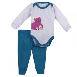 Pijama de Bebê  Menina - Miau