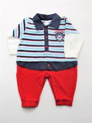Macacão  em plush bebê - Sport Red