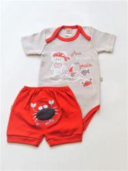 Pijama bebê Caranguejinho