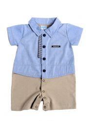 Macacão Bebê Modelo Camisa
