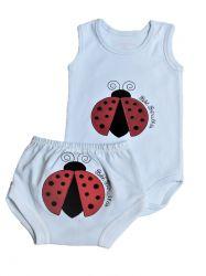 Pijama Regata Bebê - Lady Bug