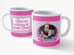 Caneca Dinda - Polka Rosa