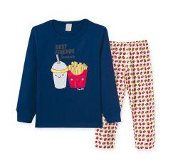 Pijama Infantil Manga Longa Masculino  - Batata Frita