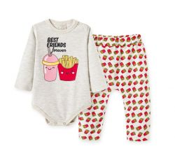 Pijama Bebê - Pijama de  Body e Calça Saruel