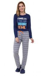 Pijama Feminino  Manga Longa  - Familia Legal