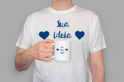 Kit Caneca e camiseta - Personalizada com sua ideia!