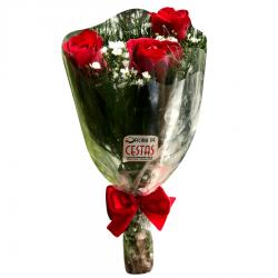 Mini Buquê com 3 rosas